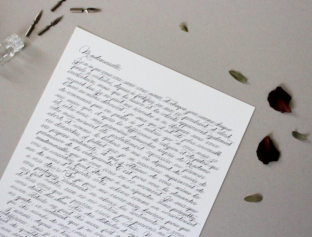 Lettre d'amour, voeux de mariage